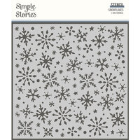 Simple Stories - Winter Cottage Collection - 6 x 6 Stencil - Snowflakes