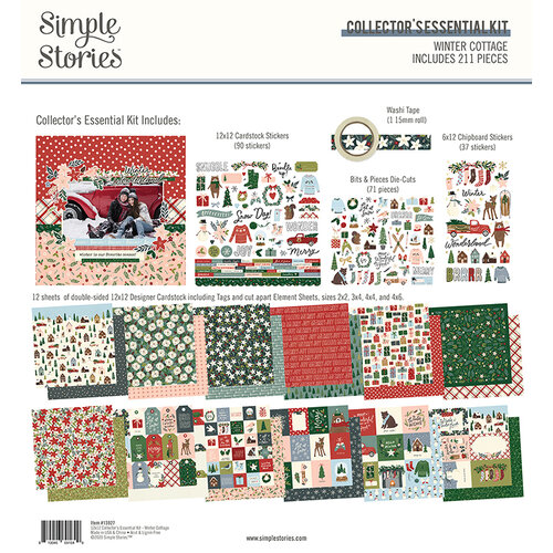 Simple Stories - Winter Cottage Collection - 12 x 12 Collector's Essential Kit