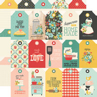 Simple Stories - Apron Strings Collection - 12 x 12 Double Sided Paper - Tags
