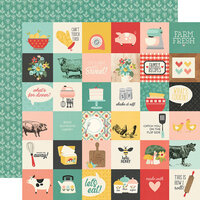 Simple Stories - Apron Strings Collection - 12 x 12 Double Sided Paper - 2 x 2 Elements