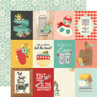Simple Stories - Apron Strings Collection - 12 x 12 Double Sided Paper - 3 x 4 Elements
