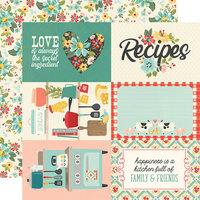 Simple Stories - Apron Strings Collection - 12 x 12 Double Sided Paper - 4 x 6 Elements