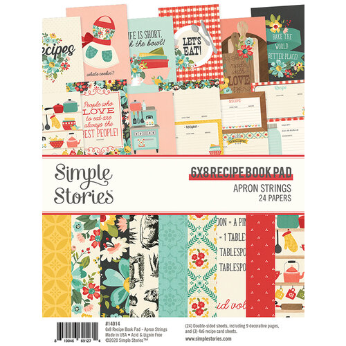 Simple Stories - Apron Strings Collection - 6 x 8 Paper Pad - Recipe Book