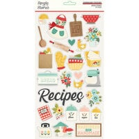 Simple Stories - Apron Strings Collection - 6 x 12 Chipboard Stickers