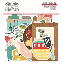 Simple Stories - Apron Strings Collection - Ephemera - Bits and Pieces