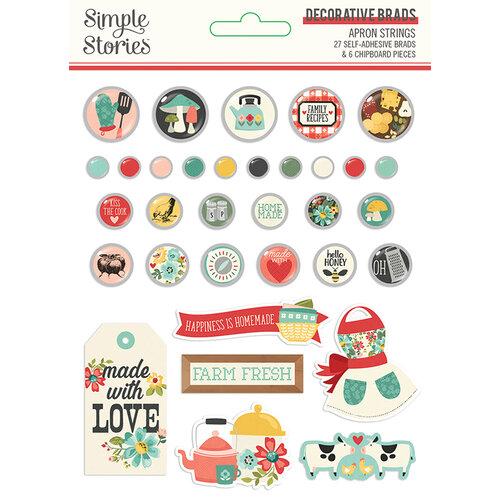Simple Stories - Apron Strings Collection - Decorative Brads