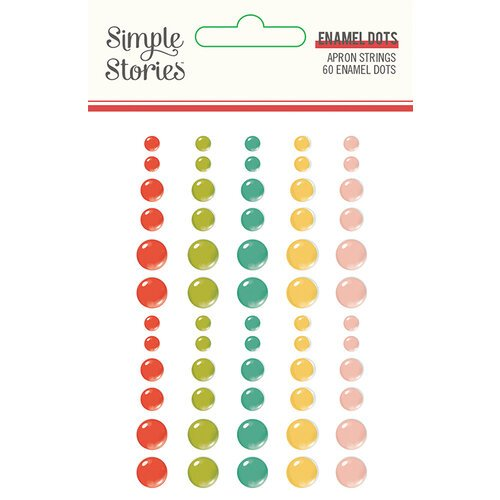 Simple Stories - Apron Strings Collection - Enamel Dots