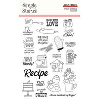 Simple Stories - Apron Strings Collection - Clear Photopolymer Stamps