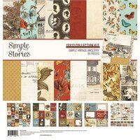 Simple Stories - Simple Vintage Ancestry Collection - 12 x 12 Collection Kit