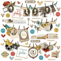 Simple Stories - Simple Vintage Ancestry Collection - 12 x 12 Cardstock Stickers - Banner
