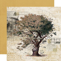 Simple Stories - Simple Vintage Ancestry Collection - 12 x 12 Double Sided Paper - Family Tree