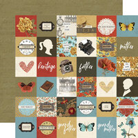 Simple Stories - Simple Vintage Ancestry Collection - 12 x 12 Double Sided Paper - 2 x 2 Elements