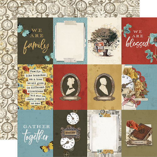 Simple Stories - Simple Vintage Ancestry Collection - 12 x 12 Double Sided Paper - 3 x 4 Elements