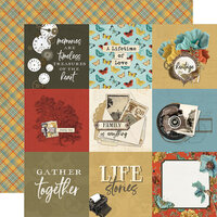 Simple Stories - Simple Vintage Ancestry Collection - 12 x 12 Double Sided Paper - 4 x 4 Elements