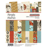 Simple Stories - Simple Vintage Ancestry Collection - 6 x 8 Paper Pad