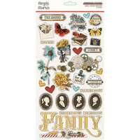 Simple Stories - Simple Vintage Ancestry Collection - 6 x 12 Chipboard Stickers