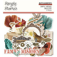 Simple Stories - Simple Vintage Ancestry Collection - Ephemera - Bits and Pieces