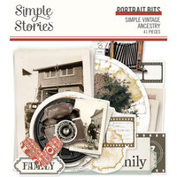 Simple Stories - Simple Vintage Ancestry Collection - Ephemera - Portrait Bits and Pieces