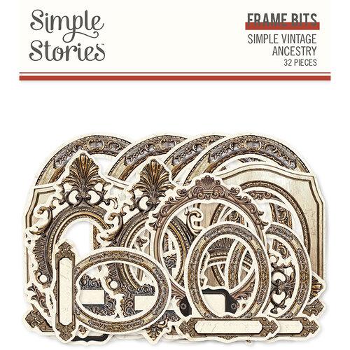 Simple Stories - Simple Vintage Ancestry Collection - Ephemera - Frame Bits