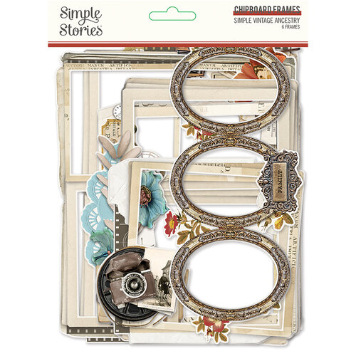 Simple Stories - Simple Vintage Ancestry Collection - Chipboard Frames