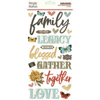 Simple Stories - Simple Vintage Ancestry Collection - Foam Stickers