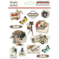 Simple Stories - Simple Vintage Ancestry Collection - Layered Stickers