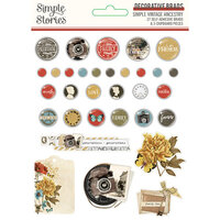 Simple Stories - Simple Vintage Ancestry Collection - Decorative Brads