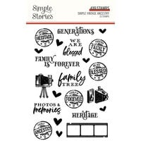Simple Stories - Simple Vintage Ancestry Collection - Clear Photopolymer Stamps