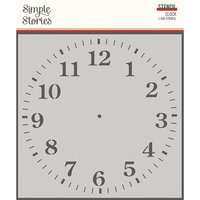 Simple Stories - Simple Vintage Ancestry Collection - 6 x 6 Stencil - Clock