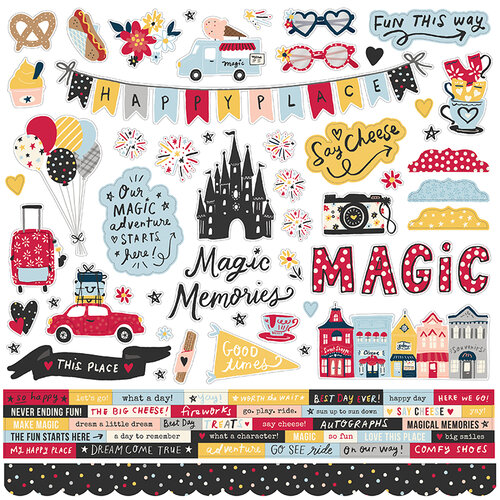 Simple Stories - Say Cheese Main Street Collection - 12 x 12 Cardstock Stickers