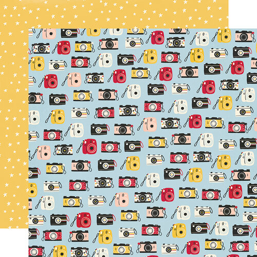 Simple Stories - Say Cheese Main Street Collection - 12 x 12 Double Sided Paper - Full of Smiles