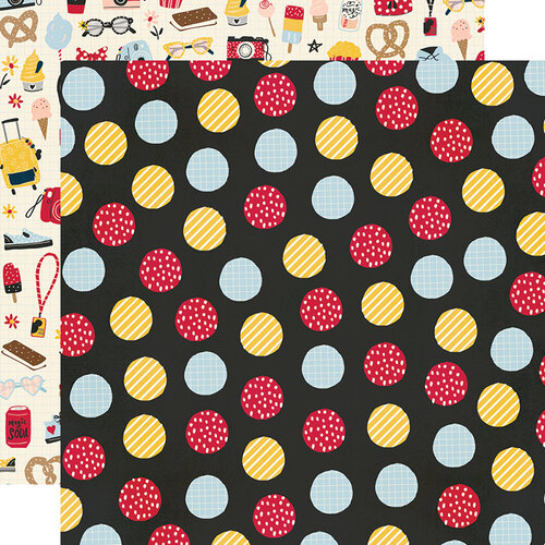 Simple Stories - Say Cheese Main Street Collection - 12 x 12 Double Sided Paper - Fun Starts Here