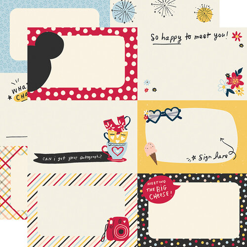 Simple Stories - Say Cheese Main Street Collection - 12 x 12 Double Sided Paper - 4 x 6 Autograph Cards