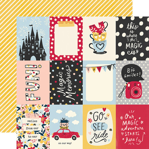 Simple Stories - Say Cheese Main Street Collection - 12 x 12 Double Sided Paper - 3 x 4 Elements