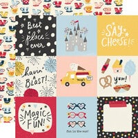 Simple Stories - Say Cheese Main Street Collection - 12 x 12 Double Sided Paper - 4 x 4 Elements
