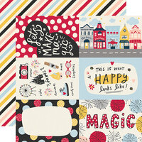 Simple Stories - Say Cheese Main Street Collection - 12 x 12 Double Sided Paper - 4 x 6 Elements