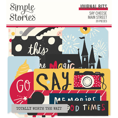Simple Stories - Say Cheese Main Street Collection - Ephemera - Journal Bits and Pieces