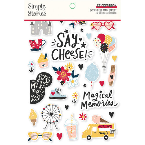Simple Stories - Say Cheese Main Street Collection - Sticker Book