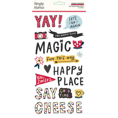 Simple Stories - Say Cheese Main Street Collection - Foam Stickers