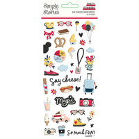 Simple Stories - Say Cheese Main Street Collection - Puffy Stickers