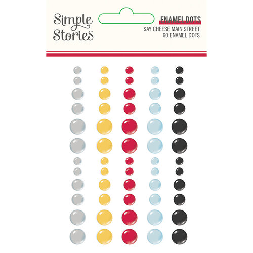 Simple Stories - Say Cheese Main Street Collection - Enamel Dots