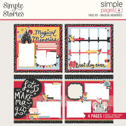 Simple Stories - Say Cheese Main Street - Simple Pages Page Kit - Magical Memories