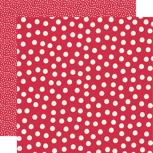 Simple Stories - Say Cheese Main Street - 12 x 12 Double Sided Paper - Red Dots