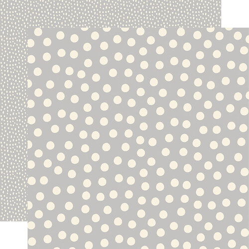 Simple Stories - Say Cheese Main Street - 12 x 12 Double Sided Paper - Grey Dots