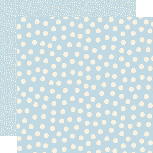 Simple Stories - Say Cheese Main Street - 12 x 12 Double Sided Paper - Blue Dots