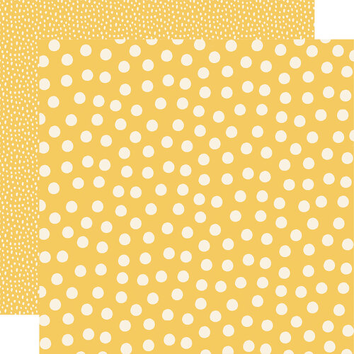 Simple Stories - Say Cheese Main Street - 12 x 12 Double Sided Paper - Yellow Dots