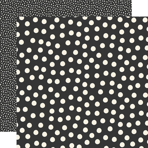 Simple Stories - Say Cheese Main Street - 12 x 12 Double Sided Paper - Black Dots