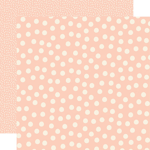 Simple Stories - Say Cheese Main Street - 12 x 12 Double Sided Paper - Blush Dots