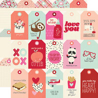 Simple Stories - Sweet Talk Collection - 12 x 12 Double Sided Paper - Tags