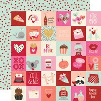 Simple Stories - Sweet Talk Collection - 12 x 12 Double Sided Paper - 2 x 2 Elements
